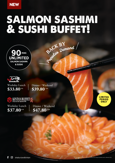 All-You-Can-Eat Salmon Sashimi & Sushi